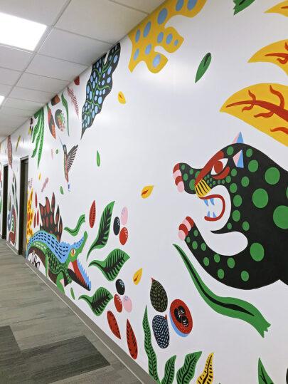 Mural para Amazon Advertising Costa Rica