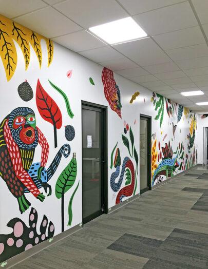 Mural para oficinas de advertising