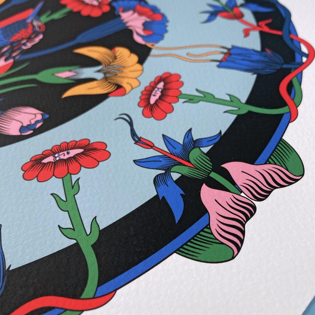 Flowers illustration - Erica Zeledón - Costa Rica