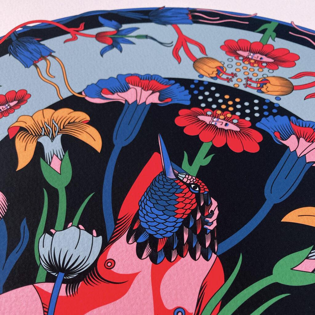 Hummingbird woman illustration - Erica Zeledón - Costa Rica