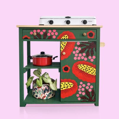 Mueble de cocina floral